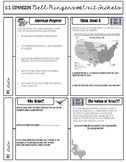 U.S. Expansion/Manifest Destiny Bell Ringers and Exit Tickets Sheet