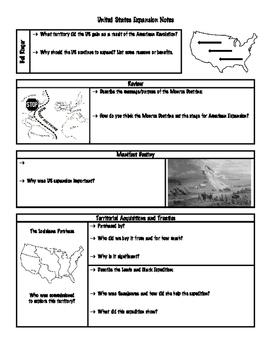 U.S. Expansion (Manifest Destiny) Note Packet