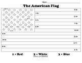 U.S. Flag Color by number - Subtraction