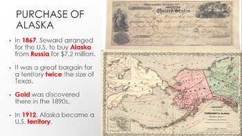 U.S. Foreign Policy & The Acquisition of Alaska, Hawaii, & Philippines Lesson