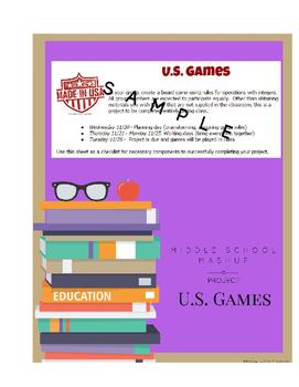 U.S. Games - An Interdisciplinary Project