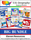U.S. Geography BIG BUNDLE - Four Regions of the United States