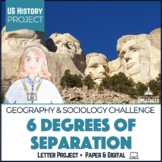 """US Geography PBL 6 Degrees of Separation """"Selfie"""" Challenge"""