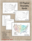 U.S. Geography PowerPoint and Map Activity Bundle