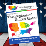 U.S. Geography - Reading Comprehension Passages - Regions of the United States