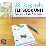 US Geography Unit: Informational Texts Maps Activities Regions