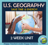 U.S. Geography Unit (Intro for 5th-9th Grades) GREAT for Distance Learning & ESL
