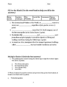 U.S. Gilded Age Test