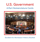 U.S. Government - 4 Part Nomenclature Cards