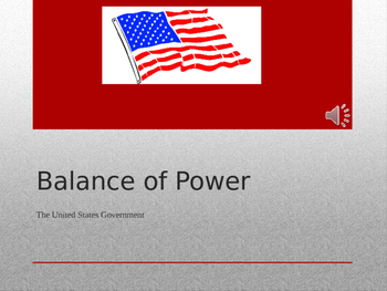 U.S. Government Balance of Power