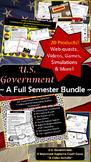 U.S. Government   Student Activity Bundle   20 Lessons   D