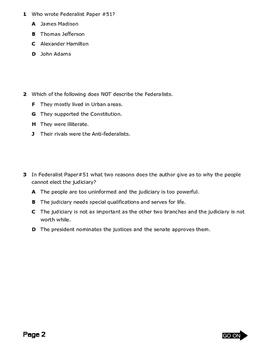 U.S. Government Checks and Blances Quiz