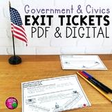 U.S. Government & Civics Exit Tickets Set