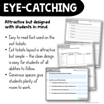 This is a picture of Exit Tickets Printable in math