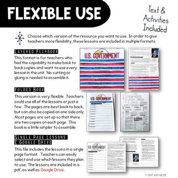 U.S. Government & Civics Unit: Informational Texts & Activities  Low Prep