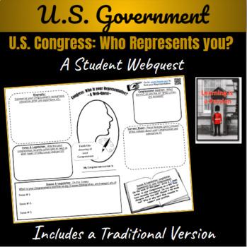 U.S. Government: Congress ~Who Represents YOU?~ Web-Quest