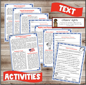 U.S. Government Unit: Informational Text and Activities