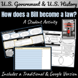 U.S. Government: How a Bill becomes Law Graphic Organizer