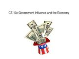 U.S. Government Influence on the Economy power point (VA C