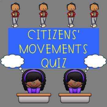 U.S. Government Quiz on Citizen's Movements