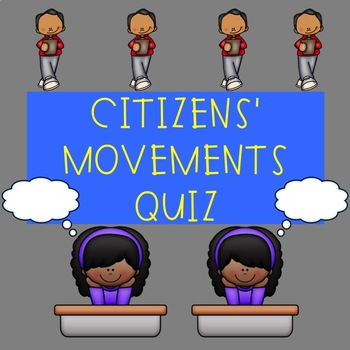 U.S. Government Quiz on Citizen's Movements