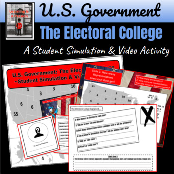 U.S. Government: The Electoral College ~Student Simulation & Video Activity~