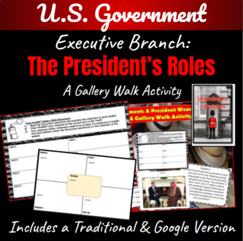 U.S. Government: The President Wears Many Hats ~A Gallery Walk Activity~