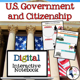 U.S. Government and Citizenship Digital Interactive Notebook for Google Drive