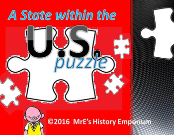 U,S. HISTORY  State Within the States Puzzle
