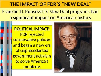 U.S. HISTORY UNIT 10 LESSON 5: Impact Of The New Deal POWERPOINT