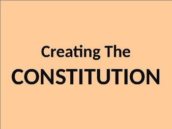 U.S. HISTORY UNIT 3 LESSON 2: The U.S. Constitution POWERPOINT