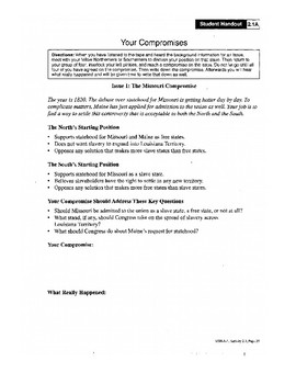 U.S. HISTORY UNIT 5 LESSON 3 Sectionalism From 1820 To 1860 GUIDED NOTES