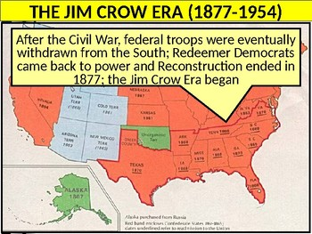 US HIS UNIT 7 LESSON 6 Gilded Age: The Jim Crow South POWERPOINT