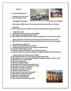U.S. HIstory AP Foner Chapter 5 Questions