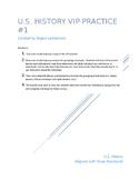 U.S. History 1877-Present VIP's  EOC Review/Cooperative Le