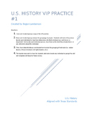U.S. History 1877-Present VIP's  STAAR EOC Cooperative Lea