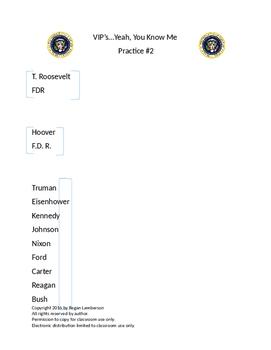 U.S. History 1877-Present VIP's STAAR EOC Cooperative Learning Activity #2