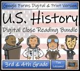 U.S. History Close Reading Activity Bundle Digital & Print