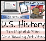 U.S. History - 3rd & 4th Grade Close Reading & Distance Le