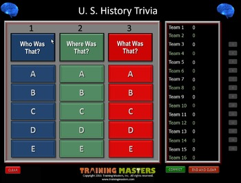 U. S. History - A PowerPoint Drain Your Brain Game