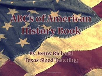 U.S. History ABC Booklet End-of-Year Activity