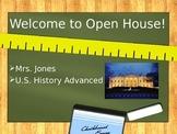 U.S. History Advanced Open House Power Point