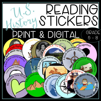U.S. History Reading Badges for Informational Texts and 40 Book Challenge