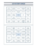 U.S. History Bingo Board