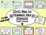 U. S. History (Civil War to Present Day) Task Cards with QR Codes Bundle (GMAS)