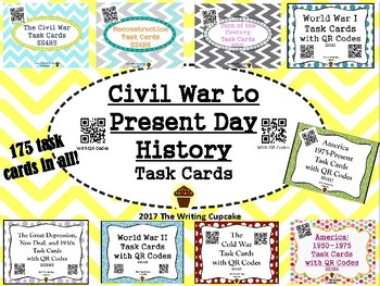 U. S. History (Civil War to Present Day) Task Cards with Q