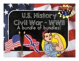 U.S. History Civil War to WWII Super Bundle