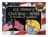 U.S. History Civil War to WWII Super Bundle