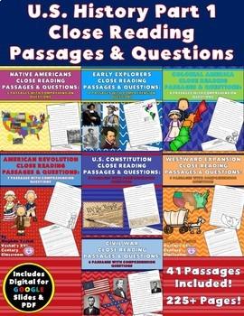 U.S. History Close Reading Passages Bundle {Digital & PDF Included}