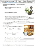 Crash Course U.S. History #2 (Colonizing America) worksheet